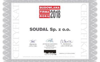 Budowlana Marka Roku 2018 dla firmy Soudal!